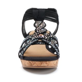 Candie's® Girls' Beaded Wedge Sandals
