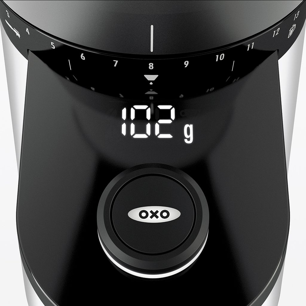 OXO Barista Brain Conical Burr Coffee Grinder with Integrated Scale
