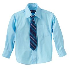 Chaps Button-Down Shirt & Tie Set - Boys 4-7