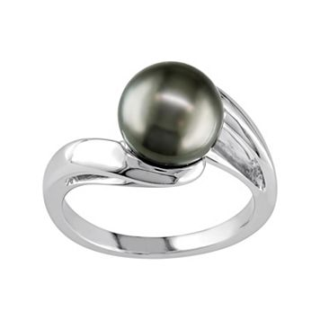 Tahitian Cultured Pearl 10k White Gold Bypass Ring