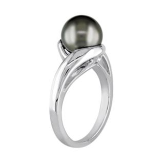 Stella Grace Tahitian Cultured Pearl 10k White Gold Bypass Ring
