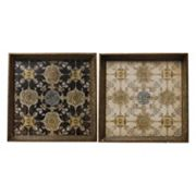 2 pc Square Tray Set