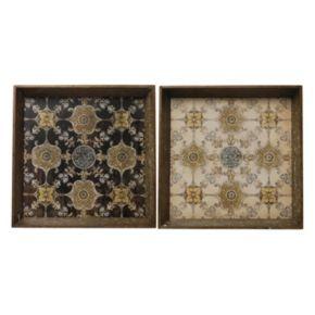 2-pc. Square Tray Set