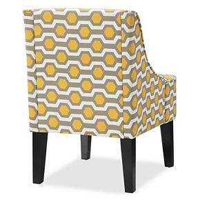 Charlotte Swoop Arm Accent Chair Null