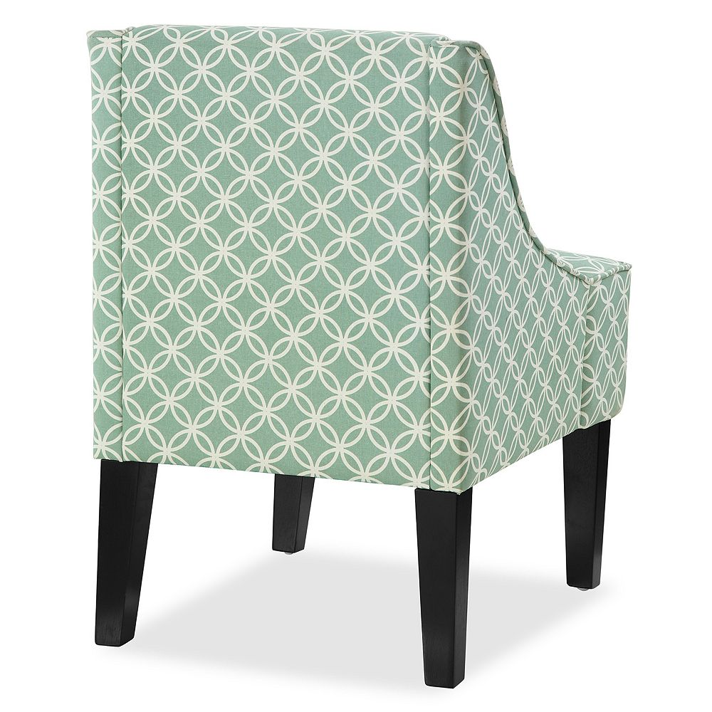 Teal Chair Charlotte Swoop Arm Accent Chair