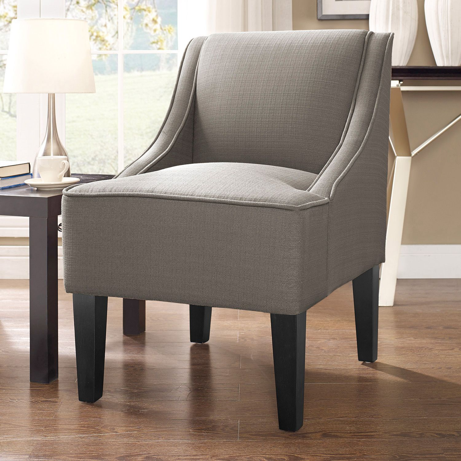Great Charlotte Swoop Arm Accent Chair