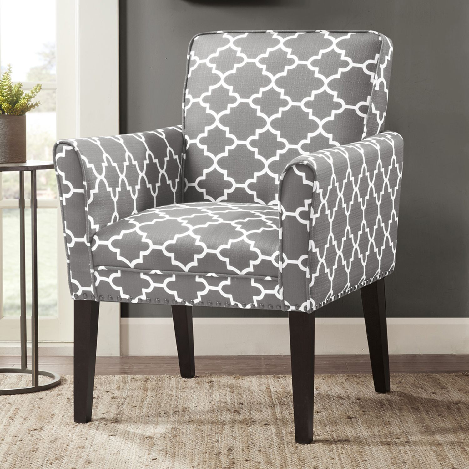 Futuristic Gray Accent Chair Exterior