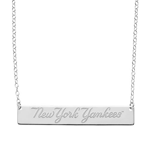 New York Yankees Sterling Silver Bar Necklace