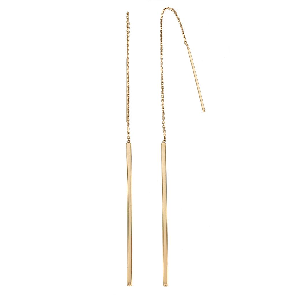14k Gold Stick Threader Earrings