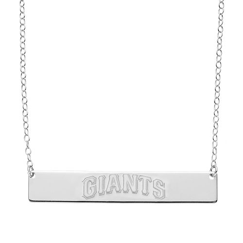 San Francisco Giants Sterling Silver Bar Necklace