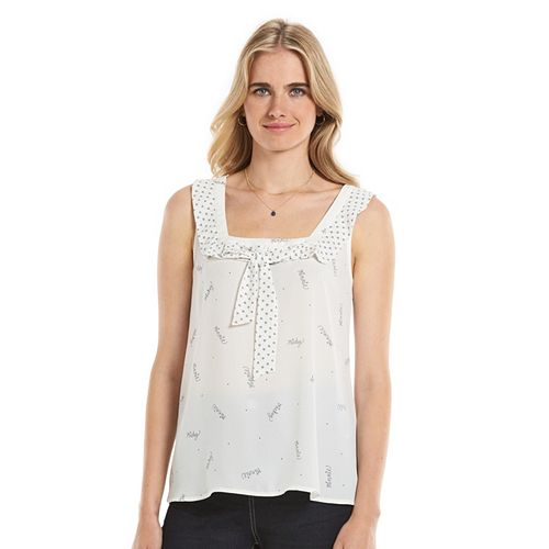 Disney's Minnie Rocks the Dots a Collection by LC Lauren Conrad Print Tank - Women's