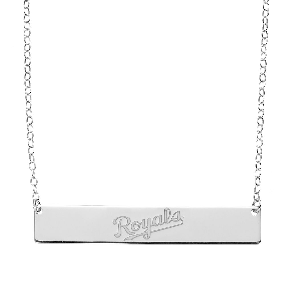 Kansas City Royals Sterling Silver Bar Necklace