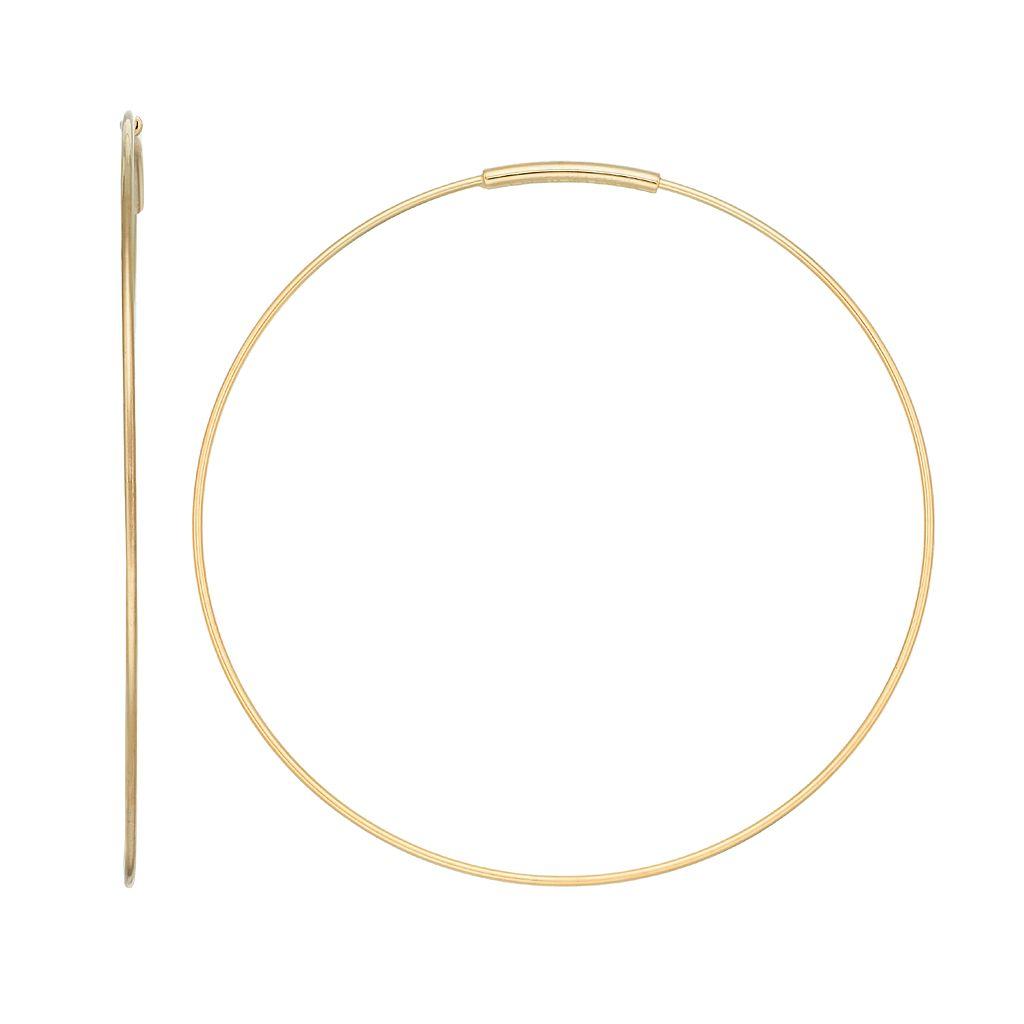 14k Gold Endless Hoop Earrings