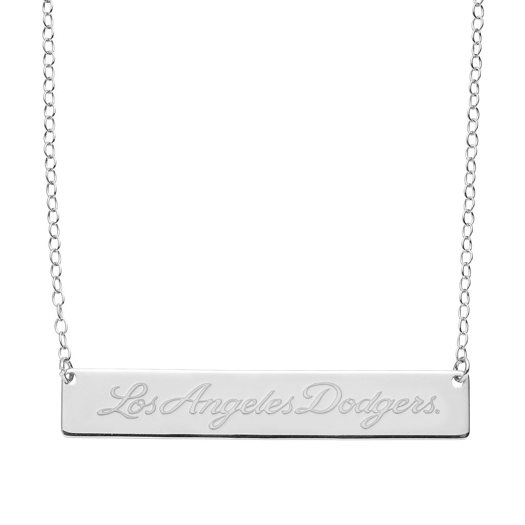 Los Angeles Dodgers Sterling Silver Bar Necklace
