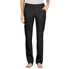 Dickies Modern Fit Straight-Leg Pull-On Twill Pants - Women's