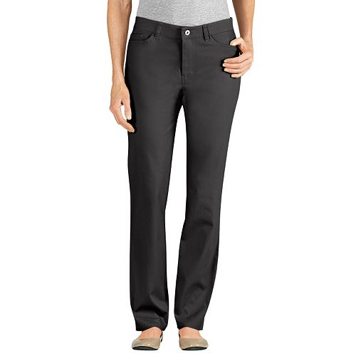 Dickies Slim Fit Skinny Twill Pants - Women's