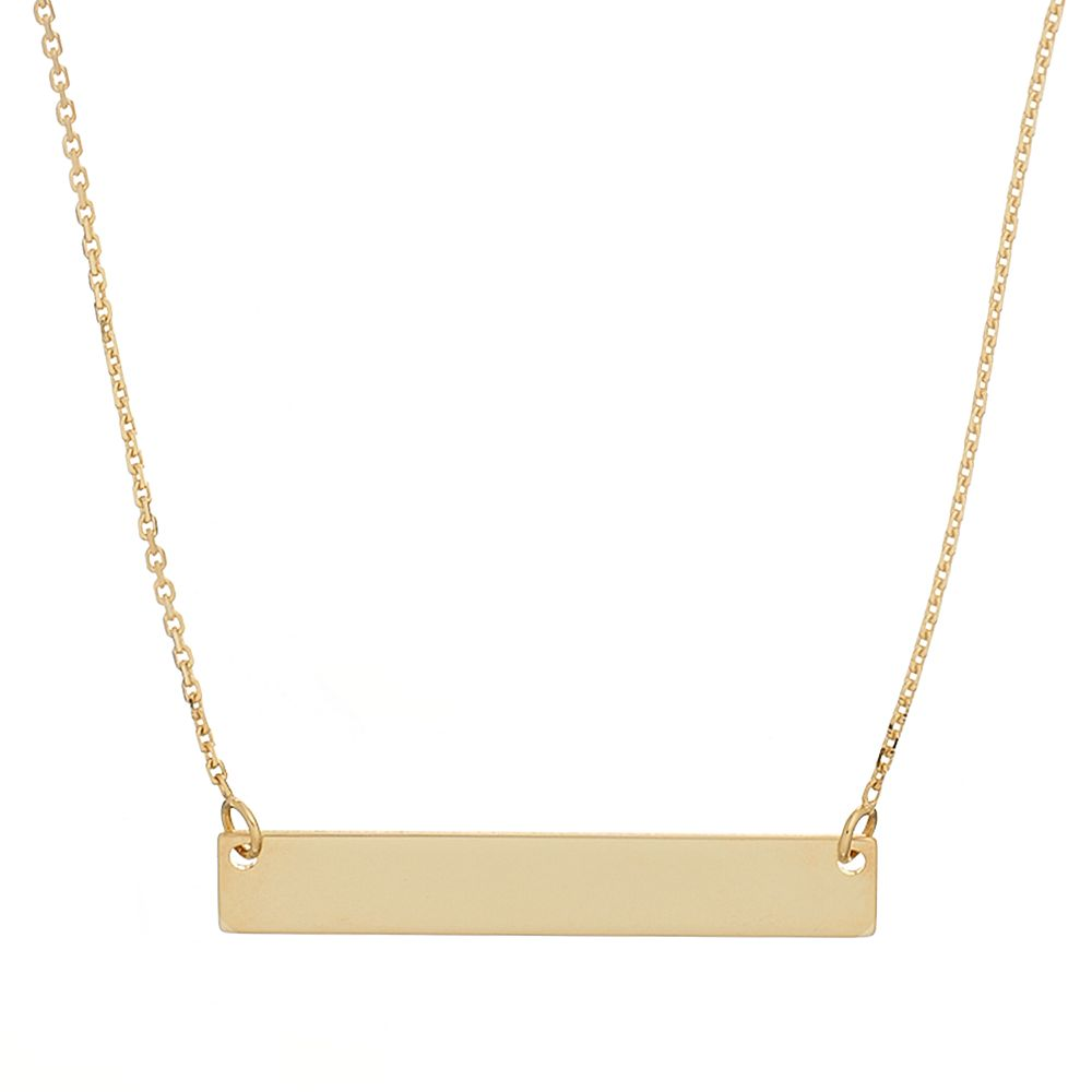 14k gold bar necklace aloadofball Gallery