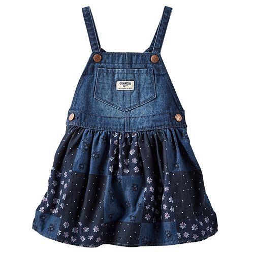 8cda528fd17 Baby Girl OshKosh B gosh® Patchwork Denim Jumper