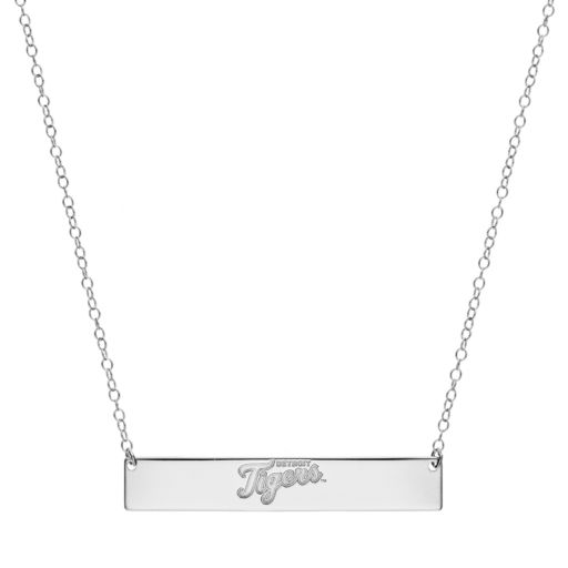 Detroit Tigers Sterling Silver Bar Necklace