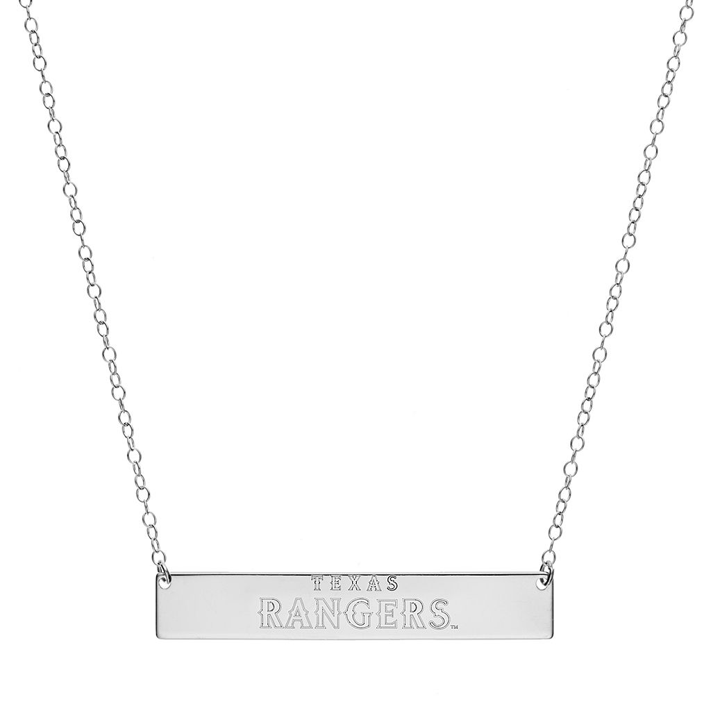 Texas Rangers Sterling Silver Bar Necklace