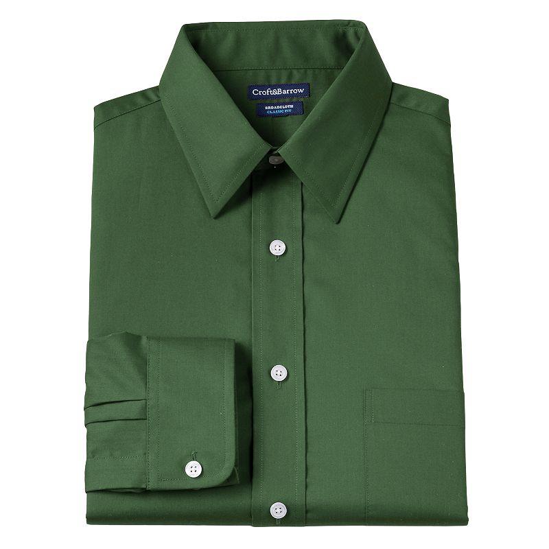 Big & Tall Croft & Barrow® Solid Broadcloth Wrinkle-Resistant Point-Collar Dress Shirt