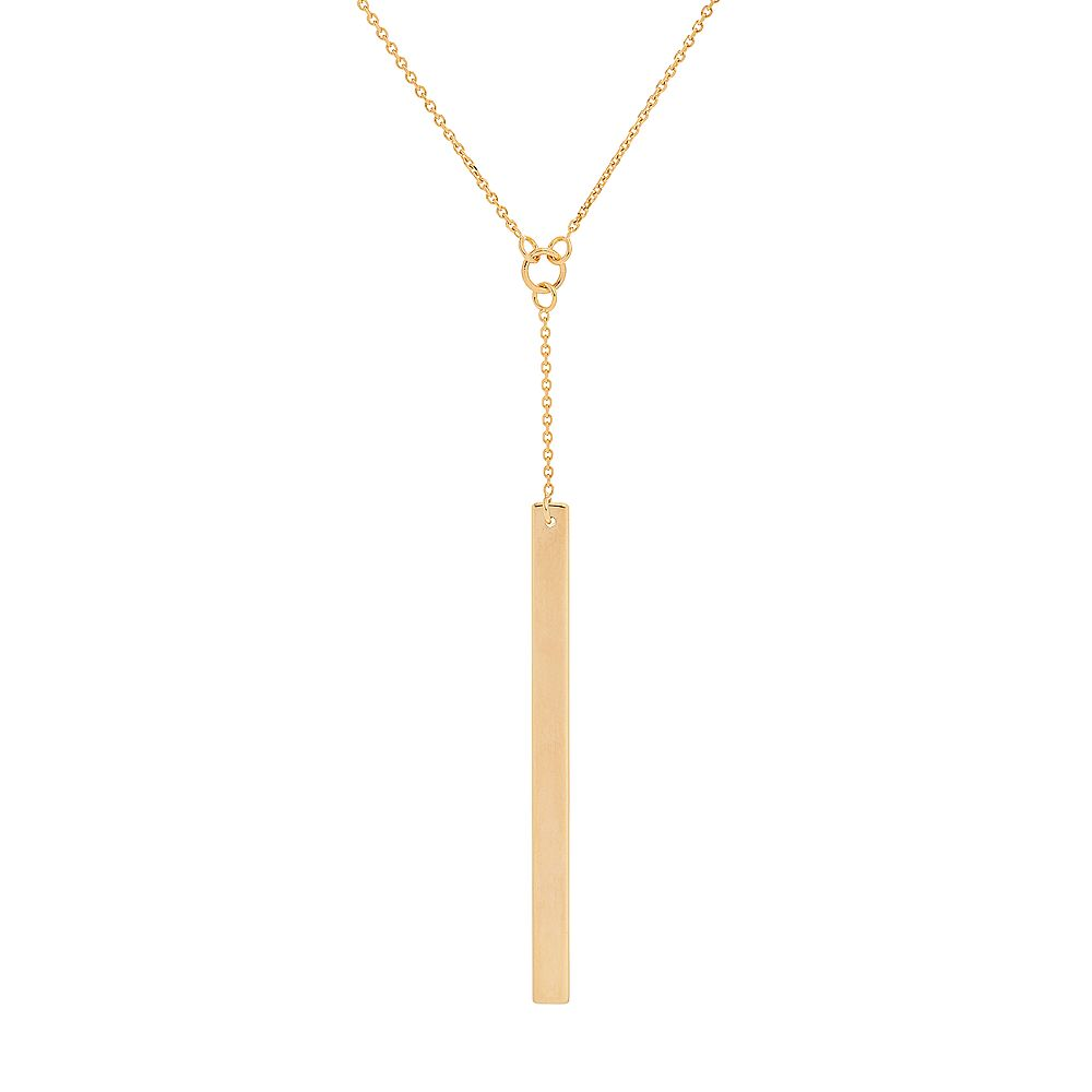 rosemarie pendant rose gold strong necklace stay pink collections vertical ribbon products bar