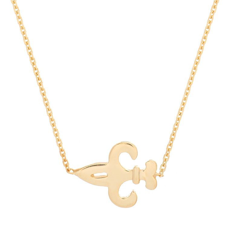14k Gold Fleur-de-Lis Necklace, Women's, Size: 18 , Yellow Convey a vintage-inspired look wearing this14k gold fleur-de-lis necklace. Comes in a gift box.NECKLACE DETAILS Length: 16 in. with 2-in. extender Clasp: lobster-claw Metal: 14k gold  Size: 18 . Color: Yellow. Gender: female. Age Group: adult.