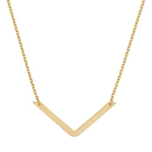 14k Gold V Necklace