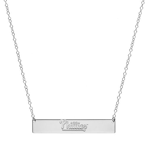 Philadelphia Phillies Sterling Silver Bar Necklace