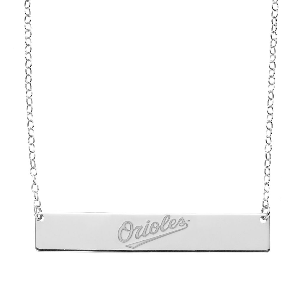 Baltimore Orioles Sterling Silver Bar Necklace