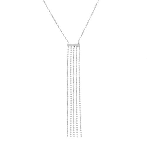 14k White Gold Fringe Necklace