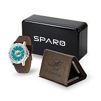 Men's Sparo Miami Dolphins Watch and Wallet Set