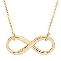 10k Gold Infinity Necklace