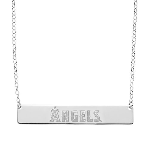Los Angeles Angels of Anaheim Sterling Silver Bar Necklace