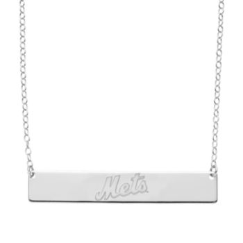 New York Mets Sterling Silver Bar Necklace