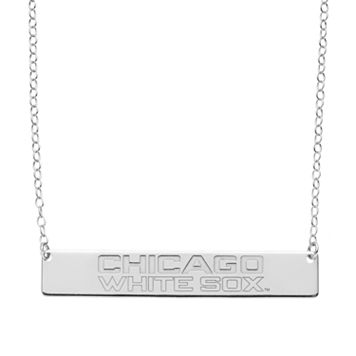 Chicago White Sox Sterling Silver Bar Necklace