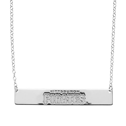 Pittsburgh Pirates Sterling Silver Bar Necklace