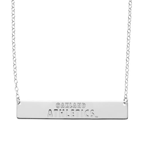 Oakland Athletics Sterling Silver Bar Necklace