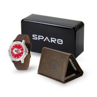 Men's Sparo Kansas City Chiefs Watch and Wallet Set
