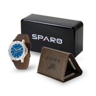 Men's Sparo Detroit Lions Watch and Wallet Set