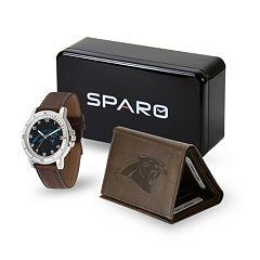 Men's Sparo Carolina Panthers Watch and Wallet Set
