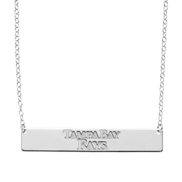 Tampa Bay Rays Sterling Silver Bar Necklace