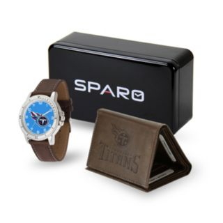 Men's Sparo Tennessee Titans Watch and Wallet Set