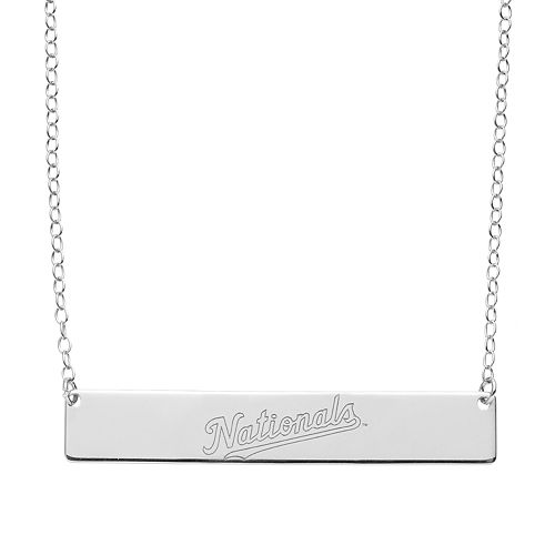 Washington Nationals Sterling Silver Bar Necklace