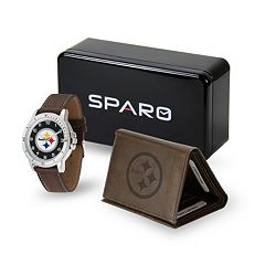 Men's Sparo Pittsburgh Steelers Watch and Wallet Set
