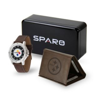 Men's Sparo Pittsburgh Steelers Watch and Wallet Set
