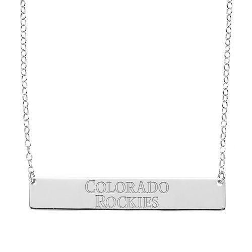 Colorado Rockies Sterling Silver Bar Necklace