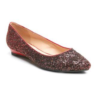 2 Lips Too Too Scatter Women's Glitter Ballet Flats