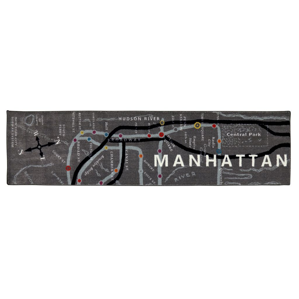 Mohawk® Home Manhattan Map Rug Runner - 2' x 8'