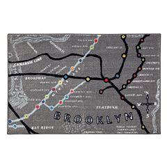 Mohawk® Home Brooklyn Map Rug - 30'' x 46''